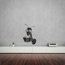 LIBRO Worm Vinyl Wall Art Decalcomania per Home Decor/interior design/camera da letto/.