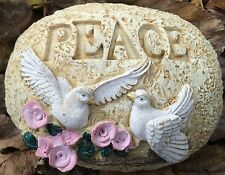Peace Rock, Small Latex Only Concrete Mold, cement, plaster