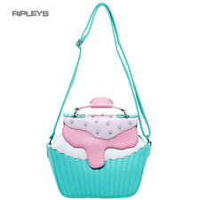 IRON FIST Ladies Bag Mint Green/Pink Cupcake  BAKERS DOZEN Handbag