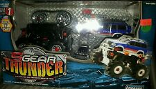 Lindberg 1/43 scale build and play motorized monster truck POLICE 5 GEAR THUNDER