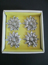 NEW Sunflower and Bumblebee Silver Set of 4 Placecard Holders