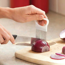 1pcs New Onion Slicer Cutting Aid Holder Guide Slicing Cutter Fork Tools