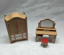Tomy Antique Vintage Bedroom Dollhouse Furniture Set