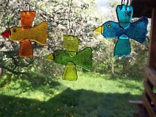 Handmade Fused Glass Art -birds,unique gift for any occasion