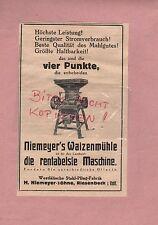RIESENBECK, Werbung 1929, H. Niemeyer Söhne Stahl-Pflug-Fabrik Walzenmühle