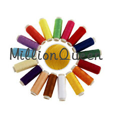 24 Rolls Assorted Colour Spool Cotton Thread Cord String Reel For Sewing Machine