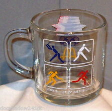 Olympic 1984 Los Angeles & McDonald Clear Glass Drinking Mug Cup