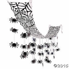 "Hanging Spider Halloween Ceiling Decorations 12"" x 12 ft."
