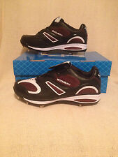 Boombah Metal Spikes / Cleats SVM2 Low Black and Maroon - Size 12