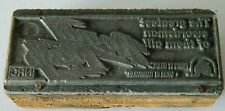MOVIE ADVERTISING - RARE PRINTERS BLOCK  - ROYAL FLASH