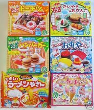 6 Pcs Kracie Japanese DIY Candy Kits Popin Cookin Happy Kitchen Sweets Making