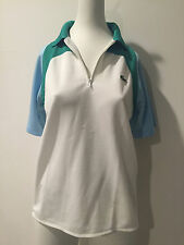 LACOSTE Boys/Girls White Polo Polyester Shirt! Preowned!  Size 16 !!!