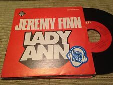 "JEREMY FINN SPANISH 7"" SINGLE SPAIN LADY ANN - TELEFUNKEN 76 - DISCO"