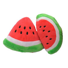 Cute Small Dog Watermelon Toys Puppy Pet Fetch Chew Play Squeaky Sound Plush a36