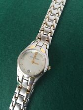 Anne Klein Women Silver And Gold Two Tone Watch Round Face Metal Band
