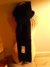 "UGG® Australia Cardy Large Cable Stitch Scarf 80"",Black, MSRP $149"