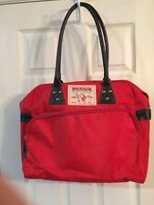 True Religion Large Red Shoulder Handbag Purse (Duffle Hand Tote Bag Fragrance)