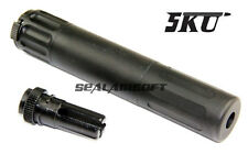 5KU SR7 Type QD Airsoft Toy Barrel Dummy Extension With Flash Hider (14mm CCW)