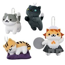 Neko Atsume Cat Collector Vol.6 Bag Charm Plush 11cm x 4 Ships from Japan