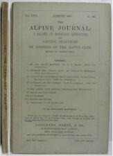 1908 ALPINE JOURNAL 181 A RECORD OF MOUNTAIN ADVENTURE  & SCIENTIFIC OBSERVATION