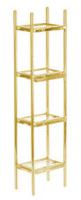 Dollhouse Miniature Modern Brass Etagere Display