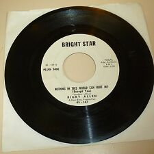 NORTHERN SOUL 45 RPM RECORD - RICKY ALLEN - BRIGHT STAR 147 - PROMO