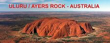 PANORAMA FRIDGE MAGNET of AYERS ROCK & ULURU, AUSTRALIA