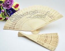 100 Chinese Hand Fans Sandalwood Wedding Folding Favors Bridal Shower Wood Lot