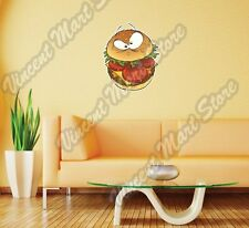 "Hamburger Burger Fast Food Sandwich Wall Sticker Room Interior Decor 20""X25"""