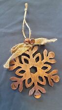 ORNAMENT metal rustic BRONZE SNOWFLAKE Christmas *** MORE ORNAMENTS IN OUR STORE