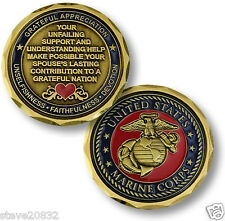 NEW USMC U.S. Marine Corps Spouse Challenge Coin. 61043.