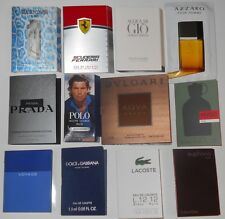 Lot of 12 Mens Cologne Samples Armani Bvlgari CK Cavalli D&G Hugo Lacoste Prada