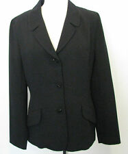 LAUNDRY BY SHELLI SEGAL Black Jacket With Beaded Design Size 10