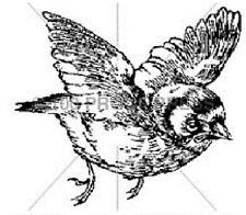 100 PROOF PRESS RUBBER STAMPS A LITTLE BIRD STAMP