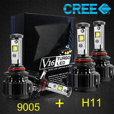 H11 9005 CREE LED Headlight Conversion Kit Light Bulbs 120W 14400LM 6000K White