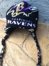 Baltimore Ravens NFL Fleece Ear Flap Hat Sizes newborn Baby,Children, Adult Men