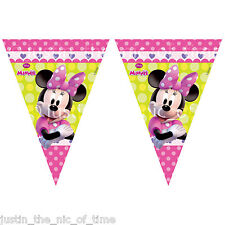 MINNIE MOUSE Girls Birthday Party Decorations Long FLAG BANNER BUNTING