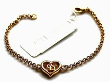 Christian Dior Symbol Bracelet Gold Plated CD Monogram 6 gr New