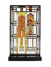 Frank Lloyd Wright Autumn Sumac Stained Art Glass Panel