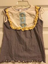 *PERSNICKETY* Girls Sleeveless Ruffled Top  Size 8