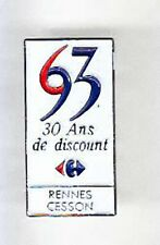RARE PINS PIN'S .. HYPERMARCHE  CARREFOUR RENNES CESSON 35 ~AM