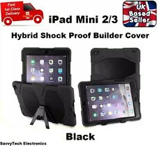 Hybrid Shockproof Armour Hard Survivor Rubber Cover Case for iPad Mini 2/3 BLACK
