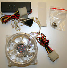 80MM CLEAR Case Fan w/ Round Red CCFL Cold Cathode Fan kit