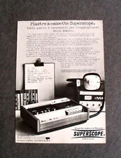 [GCG] L141- Advertising Pubblicità -1976- MARANTZ SUPERSCOPE,PIASTRE A CASSETTE
