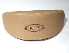 SUNGLASSES CASE ONLY for Tod's Soft Cover Beige with Brown Logo