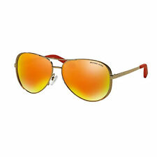 Michael Kors MK5004 Gold Mirrored Chelsea Aviator Sunglasses Lens 10146Q