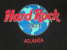 VINTAGE HARD ROCK CAFE ATLANTA SAVE THE PLANET EARTH - SMALL BLACK T-SHIRT A260