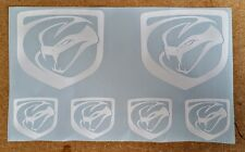 Dodge Viper Logos / Emblems / Stickers - assorted, 6 total, multiple colors