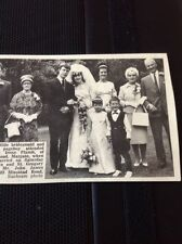 67-1 Ephemera 1965 Picture Susan Plumb John Gavin Wedding Margate