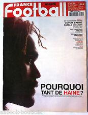 FRANCE FOOTBALL 9/04/2002; Karembeu siffler/ Govou/ Sibierski/ Ligue des champio